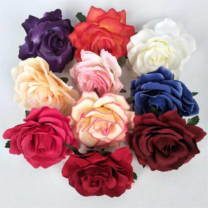 10PC Buatan Naik 10 Cm Bunga Rumah Dekorasi Pesta Pernikahan Bintang Pesta Bunga Kain Dinding Pemasok Taman Rumah DIY