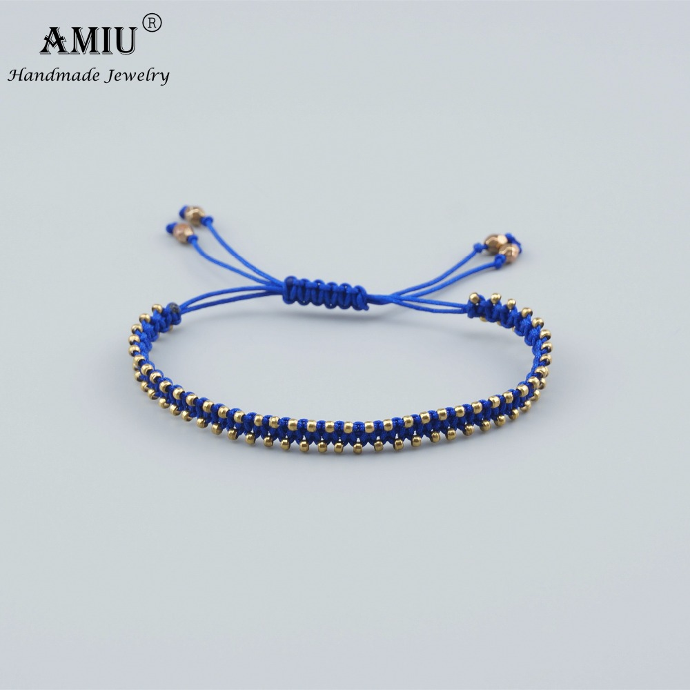 AMIU Handmade Jewelry Friendship Bracelet Hippy Colorful Love Vintage Lucky Bracelets & Bangles For Child Charm Bracelet