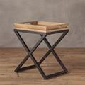 Mesa auxiliar mesa de café con bandeja de madera
