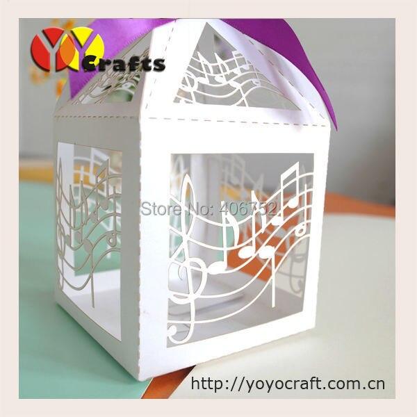 50 шт./лот 10 цветов Лазерная резка нот свадьбы коробка конфет сладкий сувенир подарки коробка шоколада с бесплатной лентой