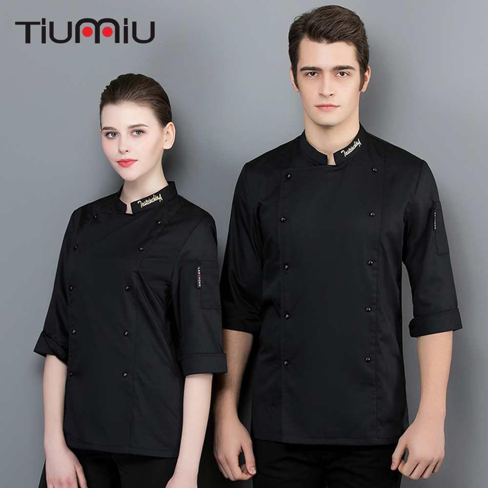 Summer Breathable Cropped Sleeve Chef Uniform Food Service Restaurant Kitchen Cooking Jacket Bakery Hotel Work Jacket Unisex