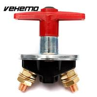 Vehemo 12 볼트 60 볼트 자동차 고정 키 배터리 격리 분리 전원 킬 컷 오프 스위