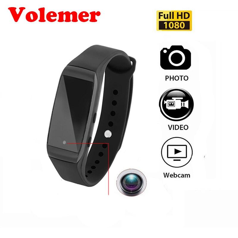 Volemer Mini Camera Smart Wristband K28 HD 1080P Bracelet Camera 14.2 Million Pixels Sports Wearable Device Micro Cam Camcorder