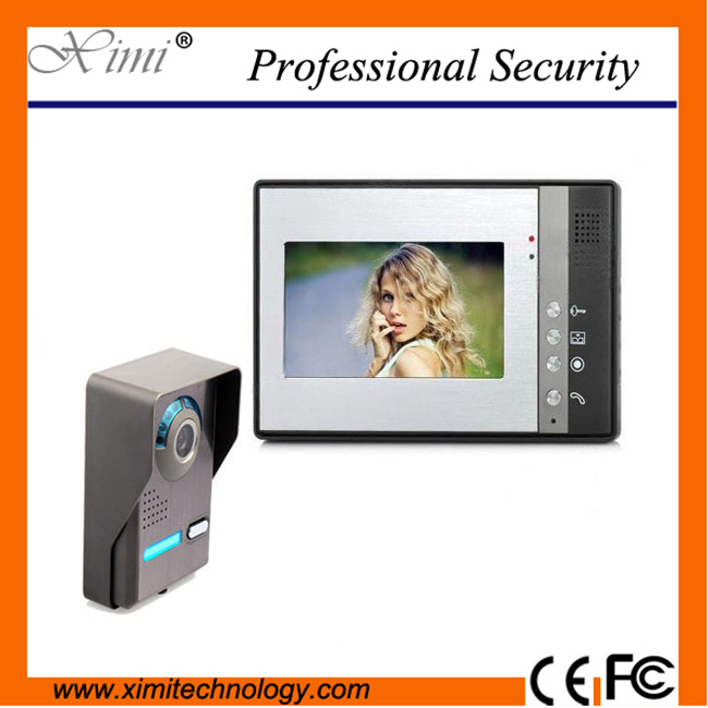 Wall mounted 7 TFT/LCD wires video door phone IR camera door access control video phone Intercom doorbell door phone system 7 inch tft touch screen lcd color video door phone doorbell wall mounted intercom system night vision eye camera doorphone