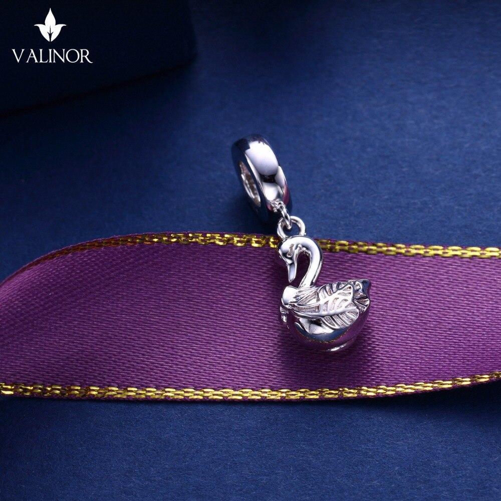 Video! Labod obesek iz srebra 925 kroglice s šarlingom se prilega - Modni nakit - Fotografija 4