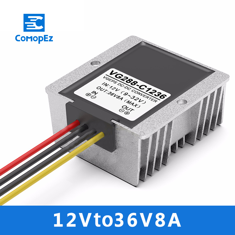 Car Boost Power Supply Converter 12V to  36V 8A DC Power Converter 9-32V Variable 36V Module Transformer WaterproofCar Boost Power Supply Converter 12V to  36V 8A DC Power Converter 9-32V Variable 36V Module Transformer Waterproof
