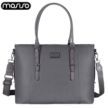 MOSISO Women PU Leather Handbag Waterproof Retro Shoulder Bags Business Laptop Bag Briefcase Notebook