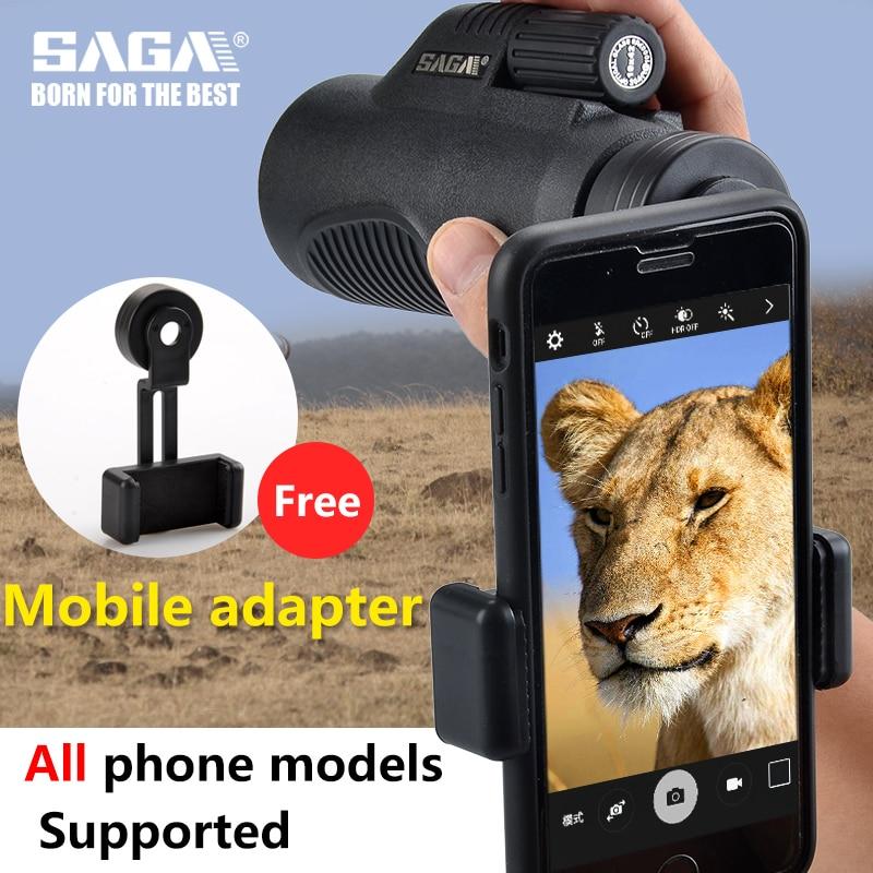 8x32 Scopes 10x42 Hunting Monocular HD SAGA Monocular Outdoor Mini Telescope Camping BAK4 Phone
