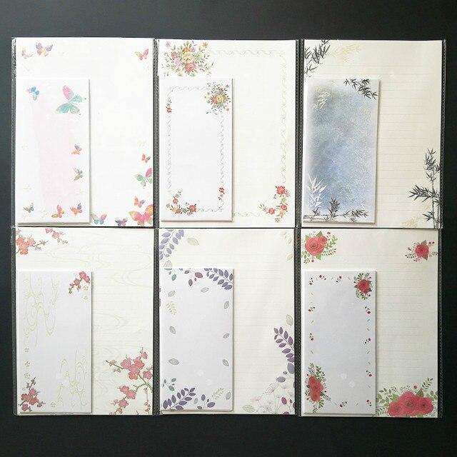 Nacarado serie en relieve 3D papel pista carta y sobres (6 Sábanas ...