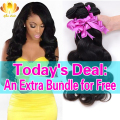7A Brazilian Virgin Hair Body Wave 3pcs Brazilian Body Wave Unprocessed Virgin Brazilian Hair Weave Bundles Rosa Hair Products