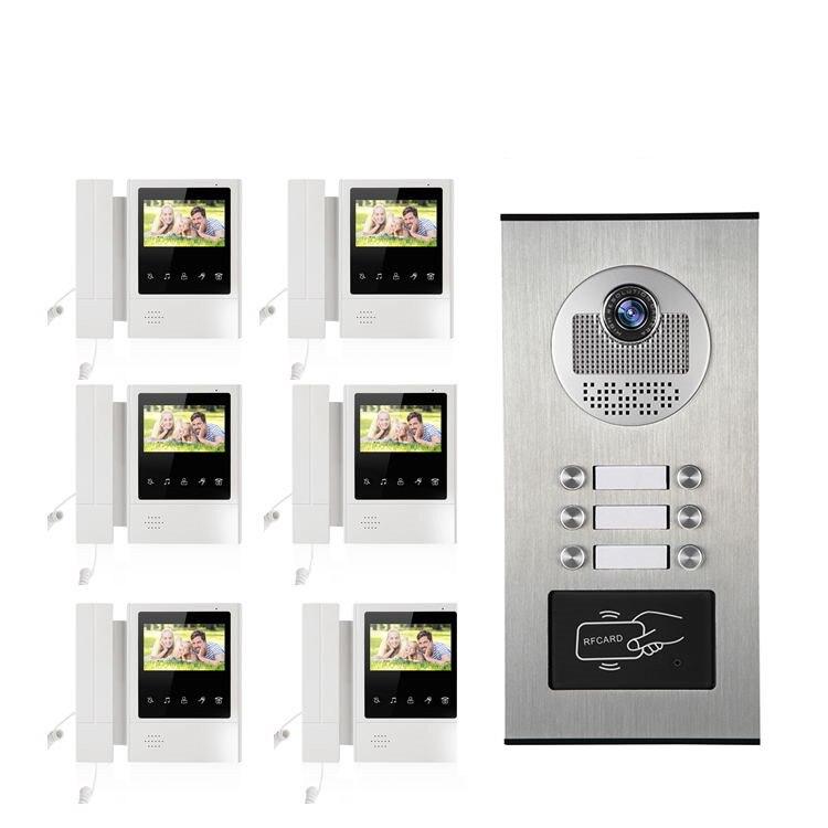 6V1 4.3 pouces LCD affichage interphone contrôle d'accès vidéo porte téléphone XSL-168-L