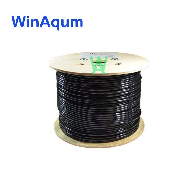 WinAqum CAT6 CAT5E 99.99% pur OFC extérieur Direct bleu solide UTP Ethernet 23AWG réseau Ethernet fil Lan RJ45
