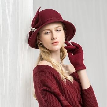 шляпа женская осенняя 4