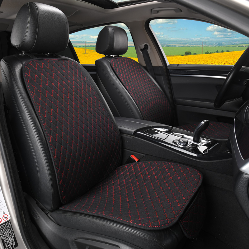 Image 4 - Car Seat Cover Protector Auto Flax Front Back Rear Backrest Seat Cushion Pad for Auto Automotive Interior Truck Suv or Van-in Automobiles Seat Covers from Automobiles & Motorcycles