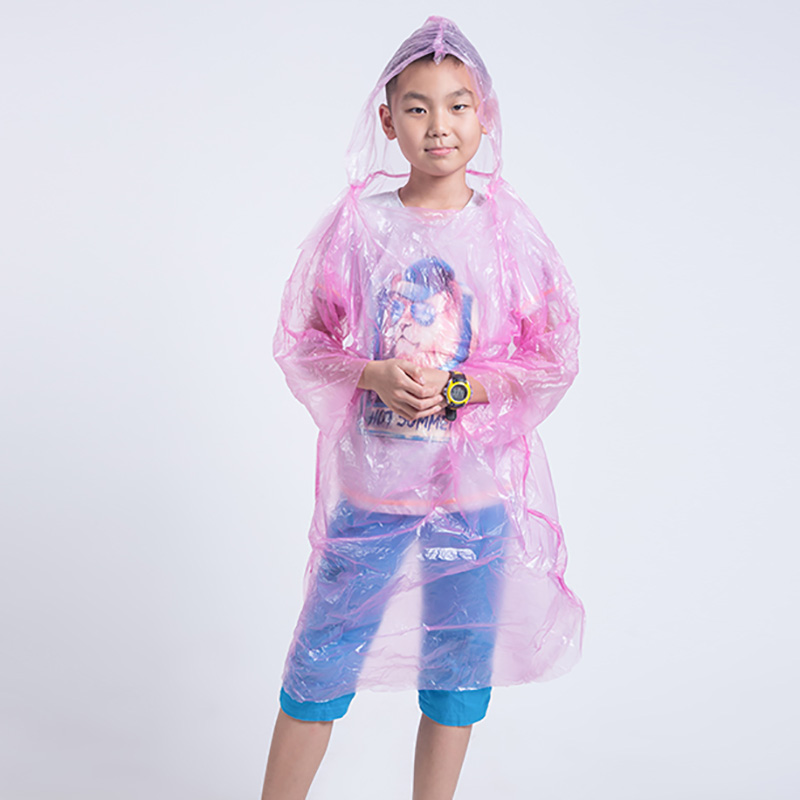 Children Raincoat Hooded Water Resistant Cover for Outdoor Camping Cycling