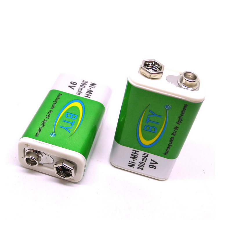 4Pcs/Lot BTY 9V Rechargeable Batteries 300mAh NI-MH Recyclable NiMh Battery For Electronic Toys Batteria Cell In Stock