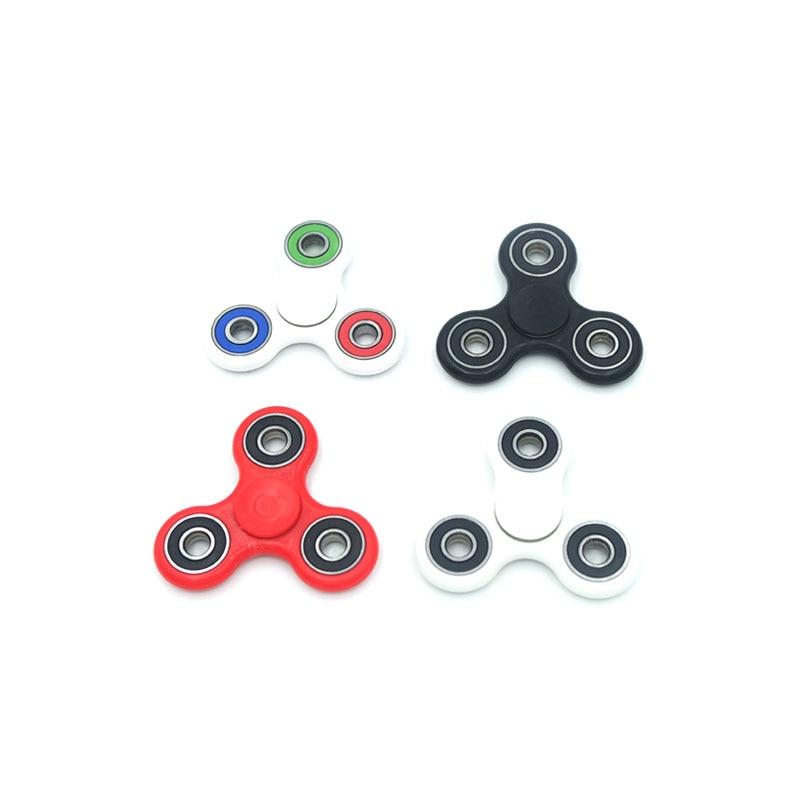 Fun 4 Color Tri Spinner Fidget Toy Pvc EDC Hand Spinner For Rotation Time Long Hybrid eramic Bearing Anti Stress Toys
