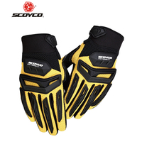 SCOYCO Motorcross Off Road Racing Gloves Rubber Protection Breathable Gloves Motorcycle Motorbike Enduro Dirt Bike Riding