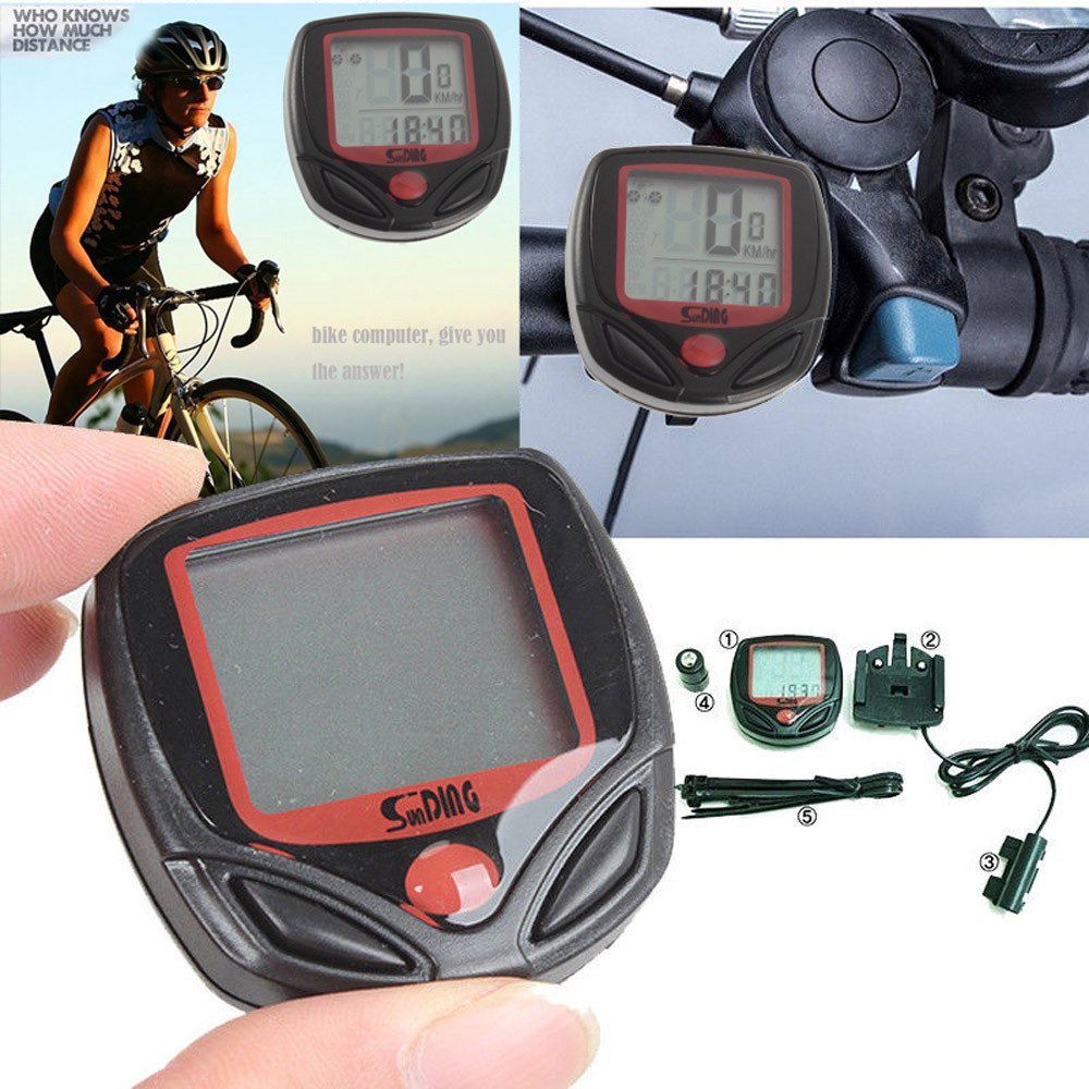 Bike Accessories Waterproof Bicycle Bike Cycle LCD Display Digital Computer Speedometer Odometer Bisiklet Aksesuar Fiets#15