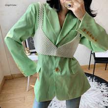 El yapımı inciler yelek kadınlar Tops 2020 yeni kadınlar için boncuk yelekler kolsuz camiş Hollow Out gömlek mont giyim LT800S50