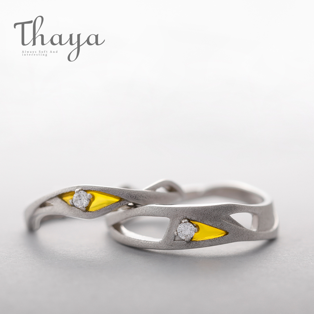 Thaya Cubic Zircon Wave Match Couple Rings simple s925 Silver Matte Eternity Lovers Warm Design Band Romantic Jewelry for WomenThaya Cubic Zircon Wave Match Couple Rings simple s925 Silver Matte Eternity Lovers Warm Design Band Romantic Jewelry for Women