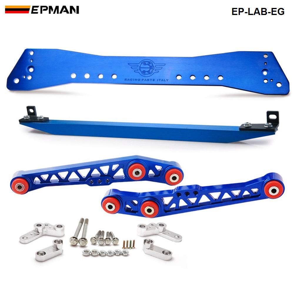 Rear Lower Control Arm Subframe Brace Tie Bar For Honda Civic 88 95 EP LAB EG