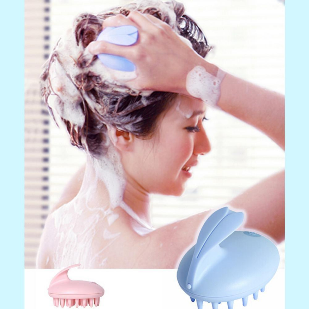 New Style Electric Cute Rabbit Head Massager Magic Shampoo Massage Comb Bath Massage Brush Scalp Massager Head Hair Care fashion new style shampoo washing hair massage brush massager comb scalp shower body random color drop shopping