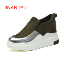 Korea Style Women Platforms Shoes Fashion Height Increasing Wedges High Heels Sneakers for Women Casual Shoes Female Wedge Shoes