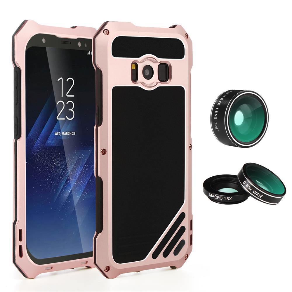 imágenes para Para Samsung Galaxy S8 S8 Plus Kit de Lentes de Cámara Del Teléfono Móvil caso 3 en 1 Caja De Aluminio A Prueba de Choques A Prueba de Polvo Cubierta de Protección de Shell