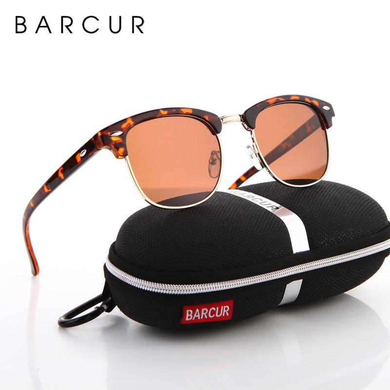 BARCUR Sun Glasses Female Oculos New Polarized Sunglasses Hot Gafas Oculos Men's Personalized Eyewear