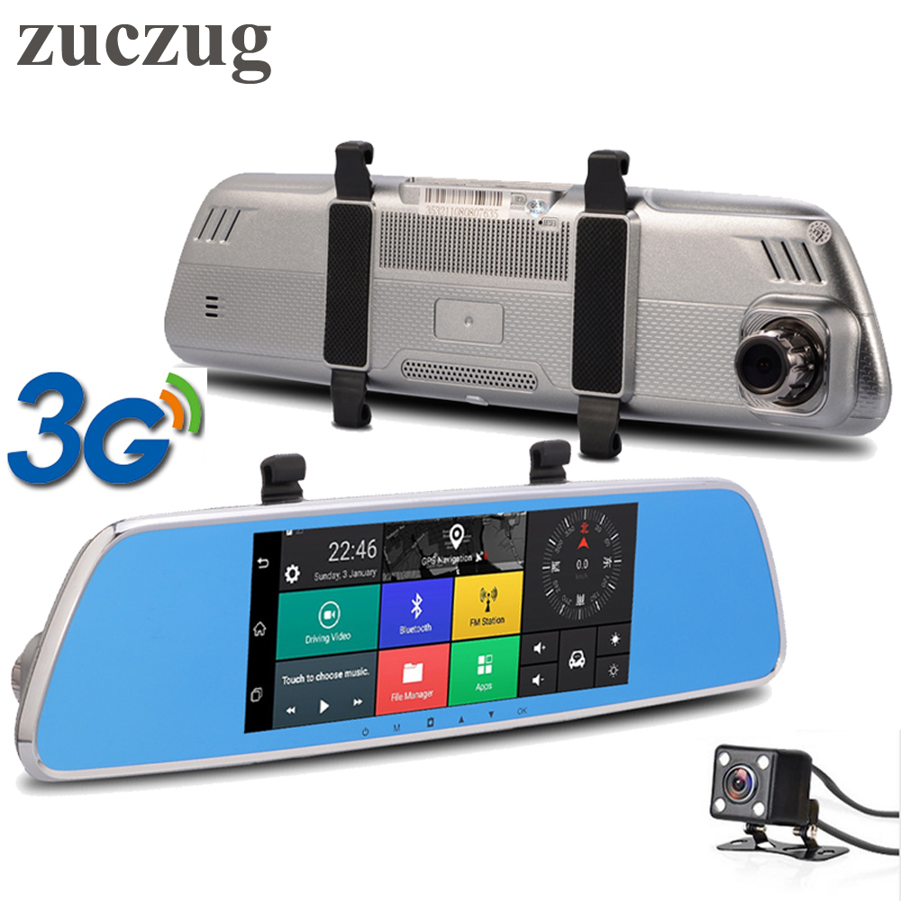 ZUCZUG 7inch 3G Touch IPS Car DVR Rearview mirror DVR GPS Bluetooth WIFI Android 5.0 Dual Lens FHD 1080p Video Recorder Dash Cam