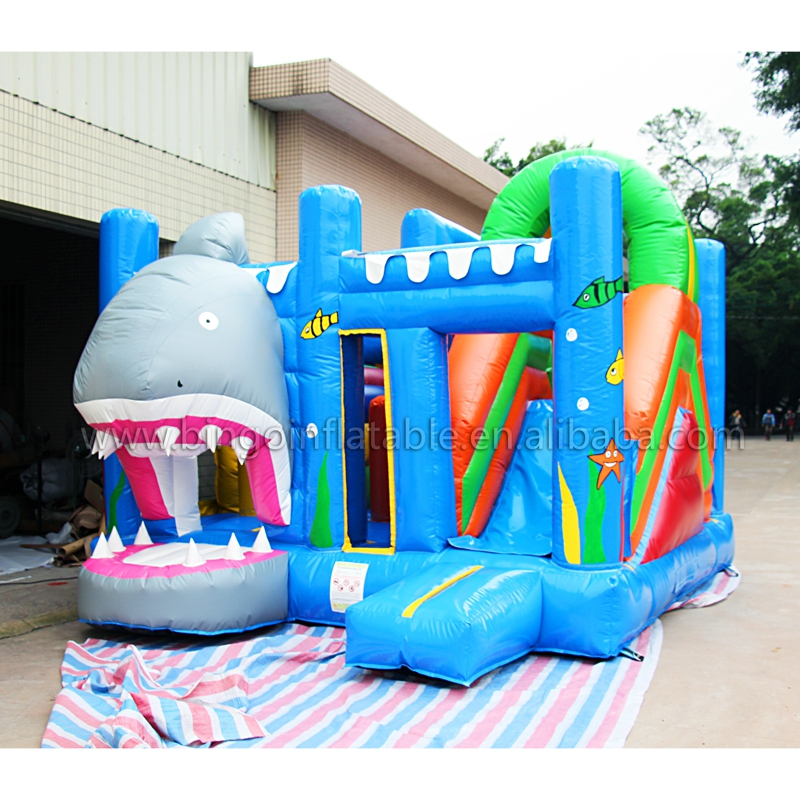 Outdoor inflatable jumping castle, inflatable bouncer and slide combos for children toy super funny elephant shape inflatable games kids slide toy for outdoor