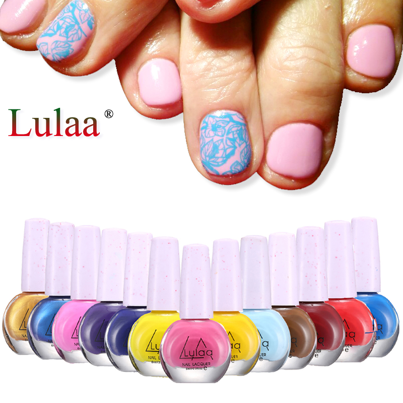 6ml/bottle Stamping Polish Nail Gel Polish & Stamping Polish Nail Art 30 Colors Optional Stamp Nail Lacquer for Nair Manicure