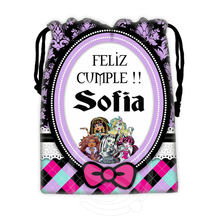 H-P764 Custom Monster high#8 drawstring bags for mobile phone tablet PC packaging Gift Bags18X22cm SQ00806#H0764