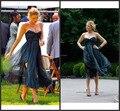 Фактический изображения 2016 сплетница серена блейк лайвли открытая спина платья милая Ruched ти-длина формальные ну вечеринку платье Abendkleider