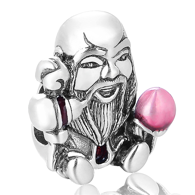 Le Dieu De La Longévité Perle Sterling-Argent-Bijoux Perles Fit Européenne Bracelet Argent Femme Bijoux DIY Gros