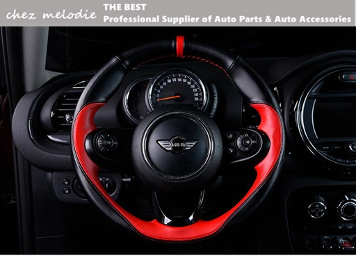 Hand-sewed top layer leather (smooth+suede leather)steering wheel cover for BMW MINI COOPER F54/55/56/60 R60/61, chez melodie набор приспособлений для обслуживания грм двигателя bmw n12 mini cooper jonnesway al010079