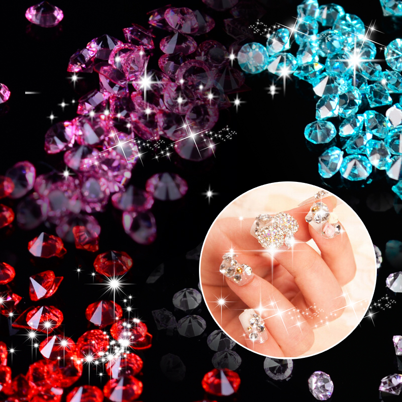 12 Colors Nail Rhinestones 2mm Acrylic Nail Art Rhinestones Decoration For UV Gel Phone Laptop DIY Nail Tools