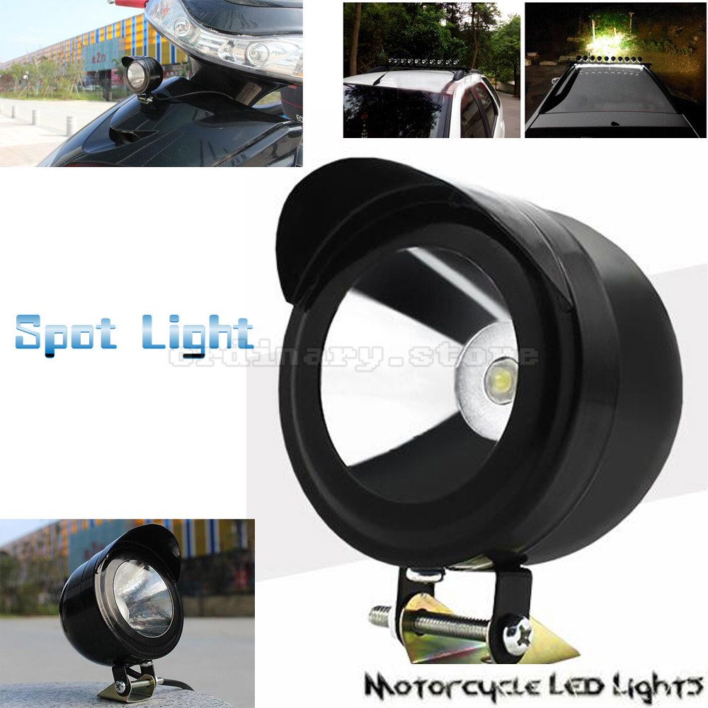 1 PCS 5W Motorcycle LED Driving Headlight Fog Head Lamp Spot Light Safety Night Universal