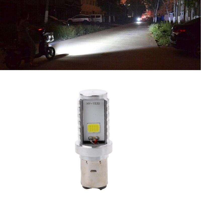 12 Вт H6 мотоциклетные лампы светодиодные лампы Hi/Lo луч фар переднего света для Honda Kawasaki