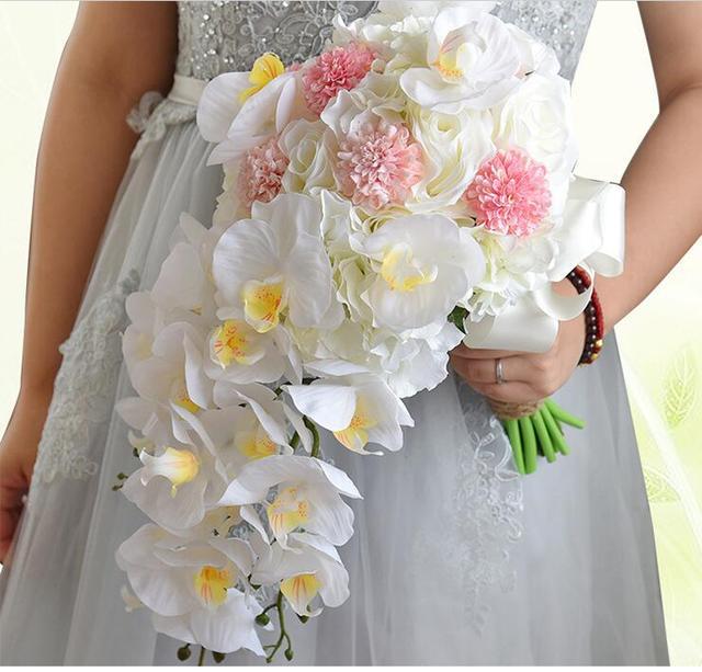 les mieux notés dernier choisir officiel classique chic € 43.38 |2017 Bouquet de mariage Pas Cher De Mariage Bouquet Blanc Teardrop  Cascade Bridal Bouquets De Mariage Fleurs Artificielles Fleurs De Mariage  ...