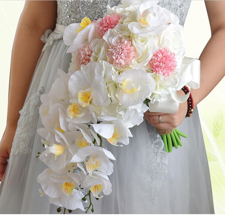 Popular Cascading Wedding Bouquet Buy Cheap Cascading Wedding Bouquet Lots From China Cascading