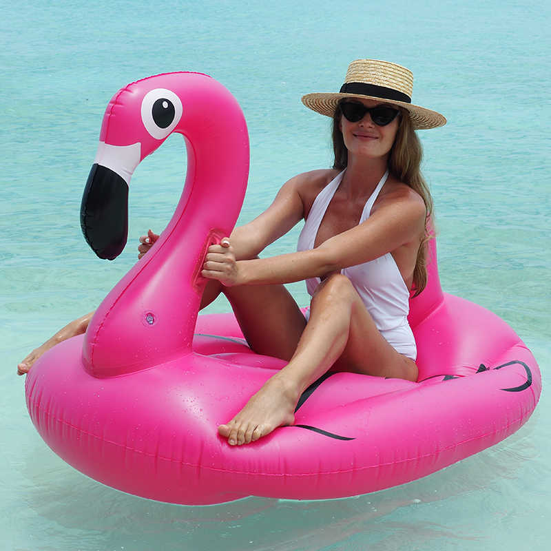 3 Flamingo and 12 Rings Aniann 3 Pack Inflatable Flamingo Ring Toss Game Flamingo Head Target Toss Pool Beach Party Games Luau Decorations for Kids Adult Family Party Game Pool Party Fun