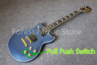 China Custom Shop Pull Push Switch Version Metal Blue Finish Suneye SG Electric Guitar Left Handed Custom Available