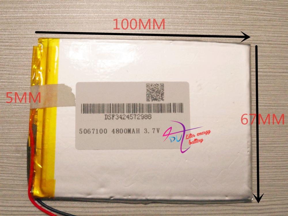 Li-ion Batterie Für Tablet Pc 7 Zoll 8 Zoll 9 Inch 4800 Mah Freies Sh 5067100 polymer Lithium-ionen Batterie Temperamentvoll Beste Batterie Marke 3,7 V