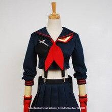 Убить ла Matoi японского аниме Хэллоуин косплей костюмы для женщин девушки платье индивидуальный заказ Бесплатная доставка
