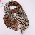 Noble Fashion Women's Long Soft Wrap Lady Shawl Silk Scarf Scarf Animal Print Leopard Chiffon Shawl Scarves and Stoles Scarf