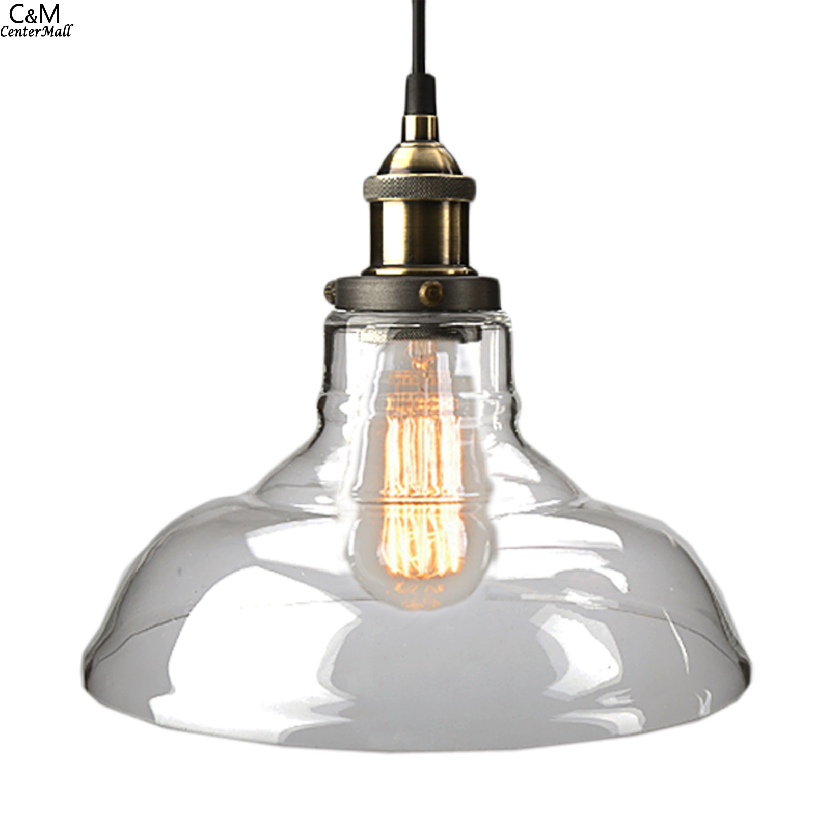 products of spool glass closed pendant bulb bell light shades