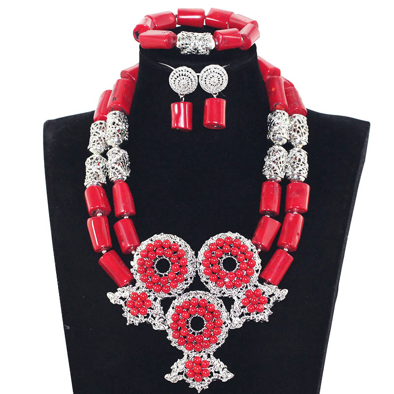 2017 Original Red Coral Bridal Statement Necklace Set Wine Red African Coral Beads Jewelry Set Women Party Free Shipping ABH5522017 Original Red Coral Bridal Statement Necklace Set Wine Red African Coral Beads Jewelry Set Women Party Free Shipping ABH552