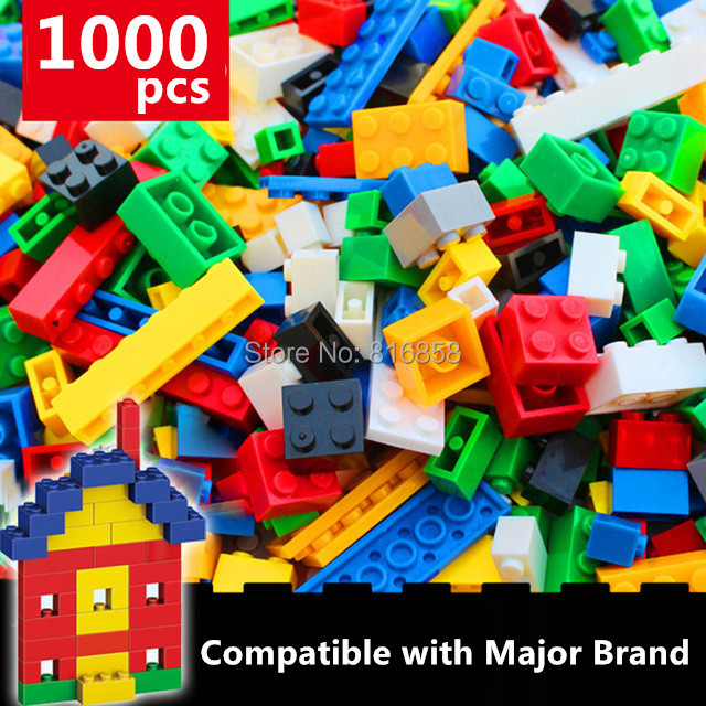 NEW 1000pcs Basic Bricks Bulk Building Blocks Parts DIY Toys Compatible with legoed hot color 1000 pcs base building blocks diy bricks creative toys for child educational block bulk compatible with legoed